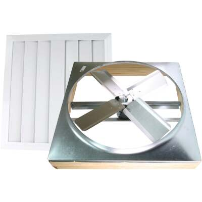 """Ventamatic Cool Attic 30"""" Direct Drive 2000 to 3000 sq ft Whole House Fan"""