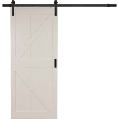 Erias Home Designs 36 In. x 84 In. x 1-3/8 In. K-Style Stone Barn Door Kit