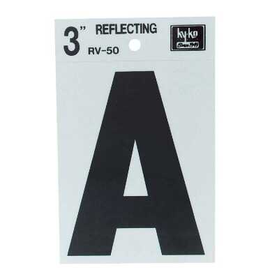 Hy-Ko Vinyl 3 In. Reflective Adhesive Letter, A