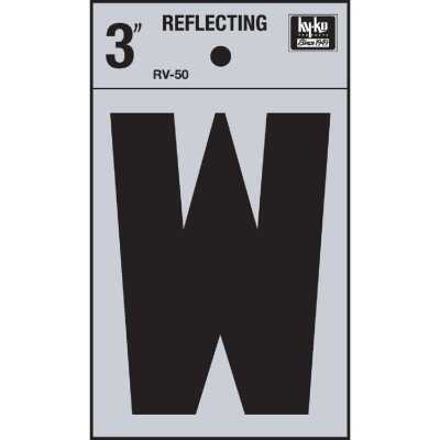 Hy-Ko Vinyl 3 In. Reflective Adhesive Letter, W