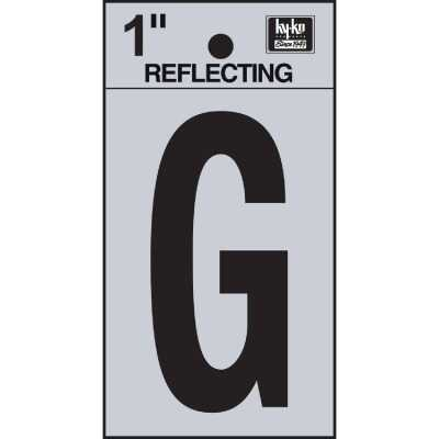 Hy-Ko Vinyl 1 In. Reflective Adhesive Letter, G