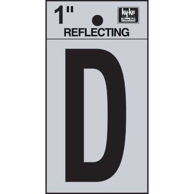 Hy-Ko Vinyl 1 In. Reflective Adhesive Letter, D