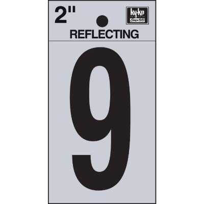 Hy-Ko Vinyl 2 In. Reflective Adhesive Number Nine
