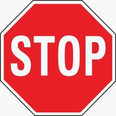 Hy-Ko Heavy-Duty Aluminum Sign, Stop