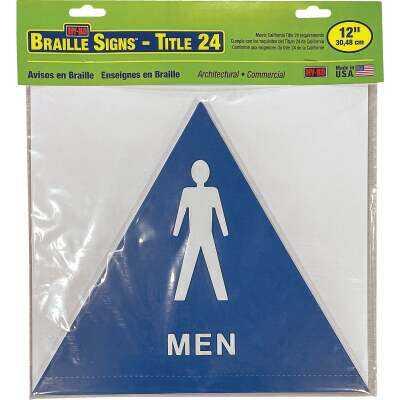 Hy-Ko Plastic Restroom Sign, Men