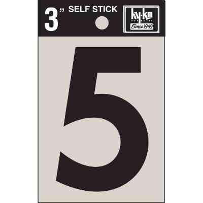 Hy-Ko Vinyl 3 In. Non-Reflective Adhesive Number Five