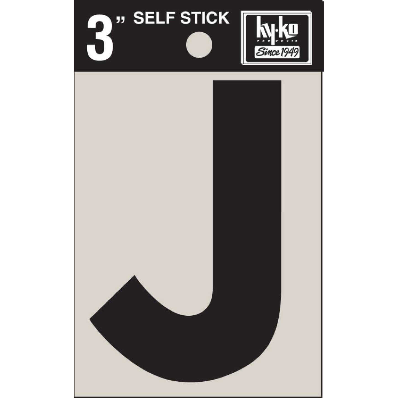 Hy-Ko Vinyl 3 In. Non-Reflective Adhesive Letter, J Image 1