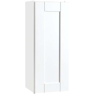 Continental Cabinets Andover Shaker 12 In. W x 30 In. H x 12 In. D White Thermofoil Wall Kitchen Cabinet