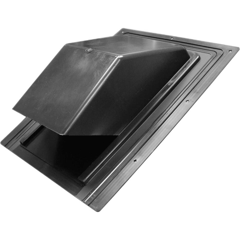 Lambro 7 In. Black Plastic Roof Vent Cap for Range Hood Vent Image 1