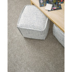 Floorigami 9 In. x 36 In. Feathered Tri-Tone Indoor Carpet Tile (12-Pack) Image 2