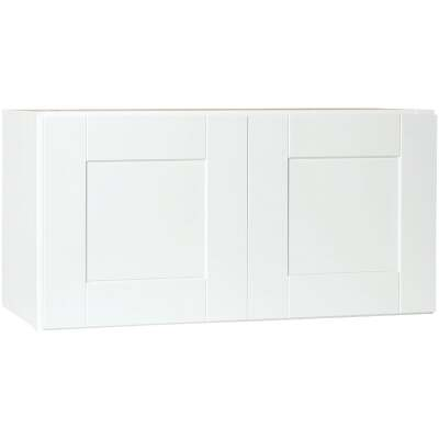 Continental Cabinets Andover Shaker 30 In. W x 15 In. H x 12 In. D White Thermofoil Bridge Wall Kitchen Cabinet