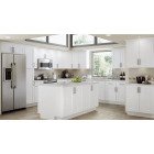 Continental Cabinets Andover Shaker 24 In. W x 34 In. H x 24 In. D White Thermofoil Base Kitchen Cabinet Image 2