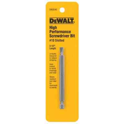 DeWalt Slotted #10 3-1/2 In. 1/4 In. Power Screwdriver Bit