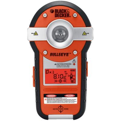Black & Decker Bullseye 20 Ft. Self-Leveling Line Laser Level with Stud Sensor