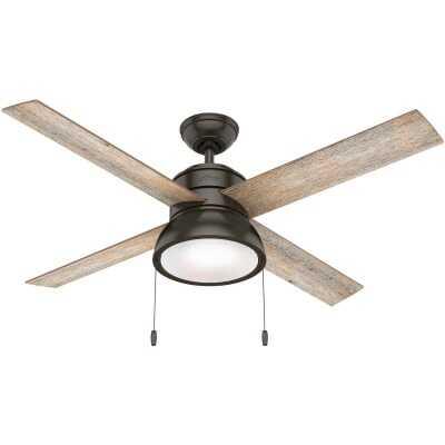 Hunter Loki 52 In. Noble Bronze Ceiling Fan with Light Kit