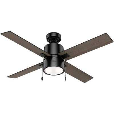 Hunter Beck 52 In. Matte Black Ceiling Fan with Light Kit