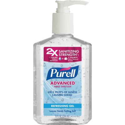 Purell 8 Oz. Gel Pump Bottle Hand Sanitizer