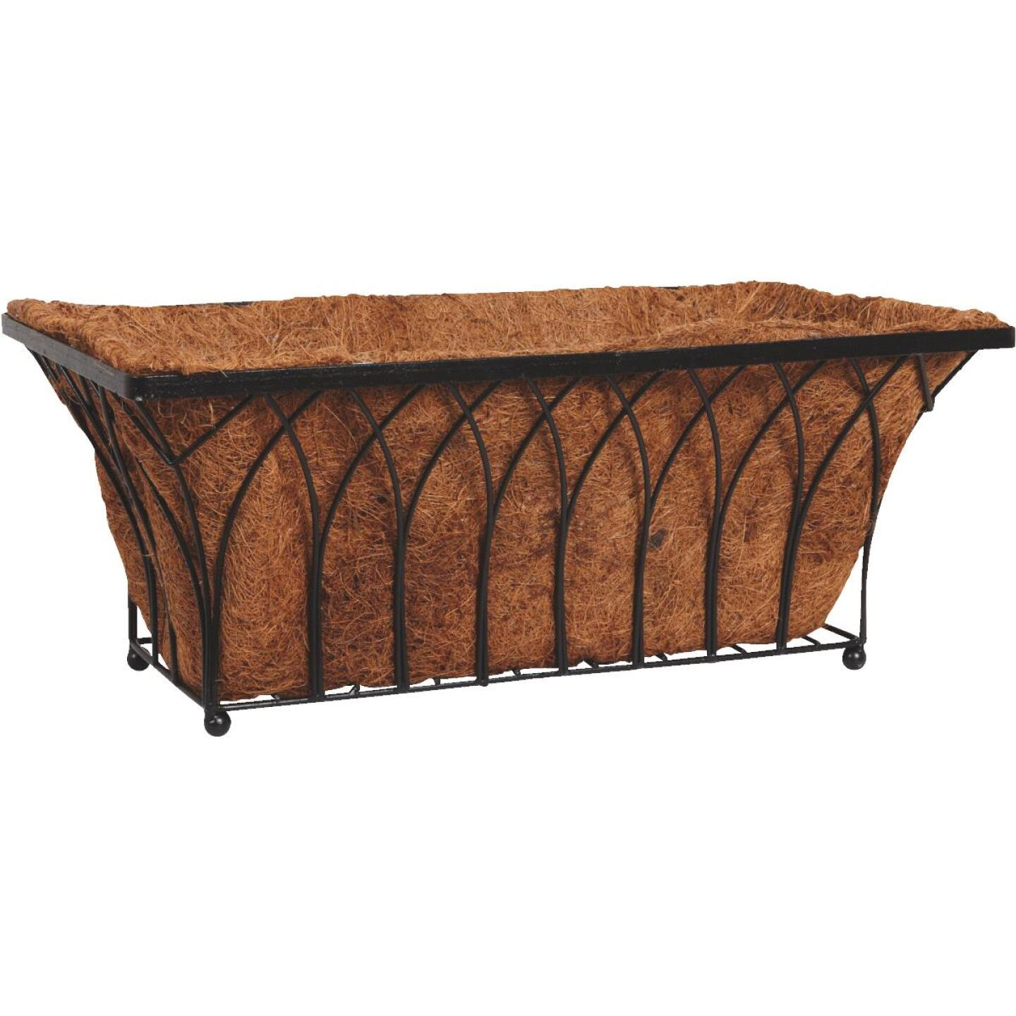 Best Garden 11 In. H x 22 In. Steel Rod Black Planter Image 1