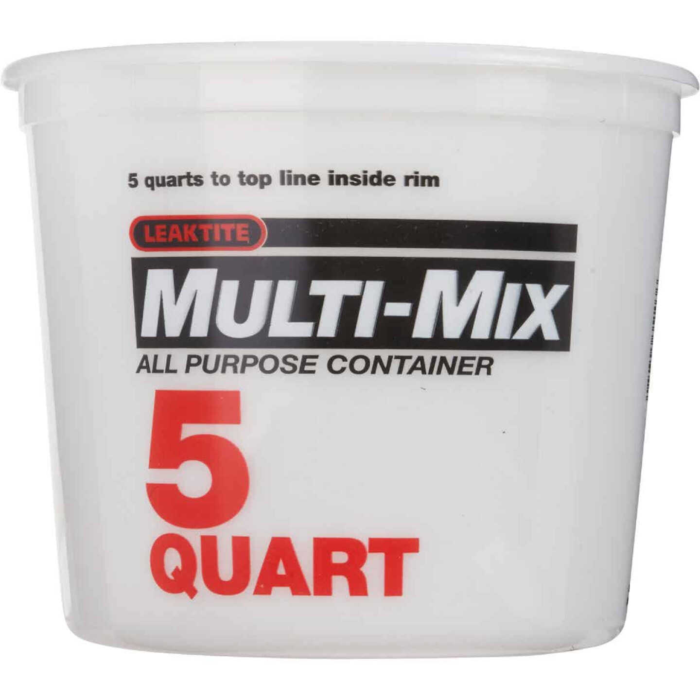 Leaktite 5 Qt. White Multi-Mix All Purpose Mixing And Storage Container Image 2