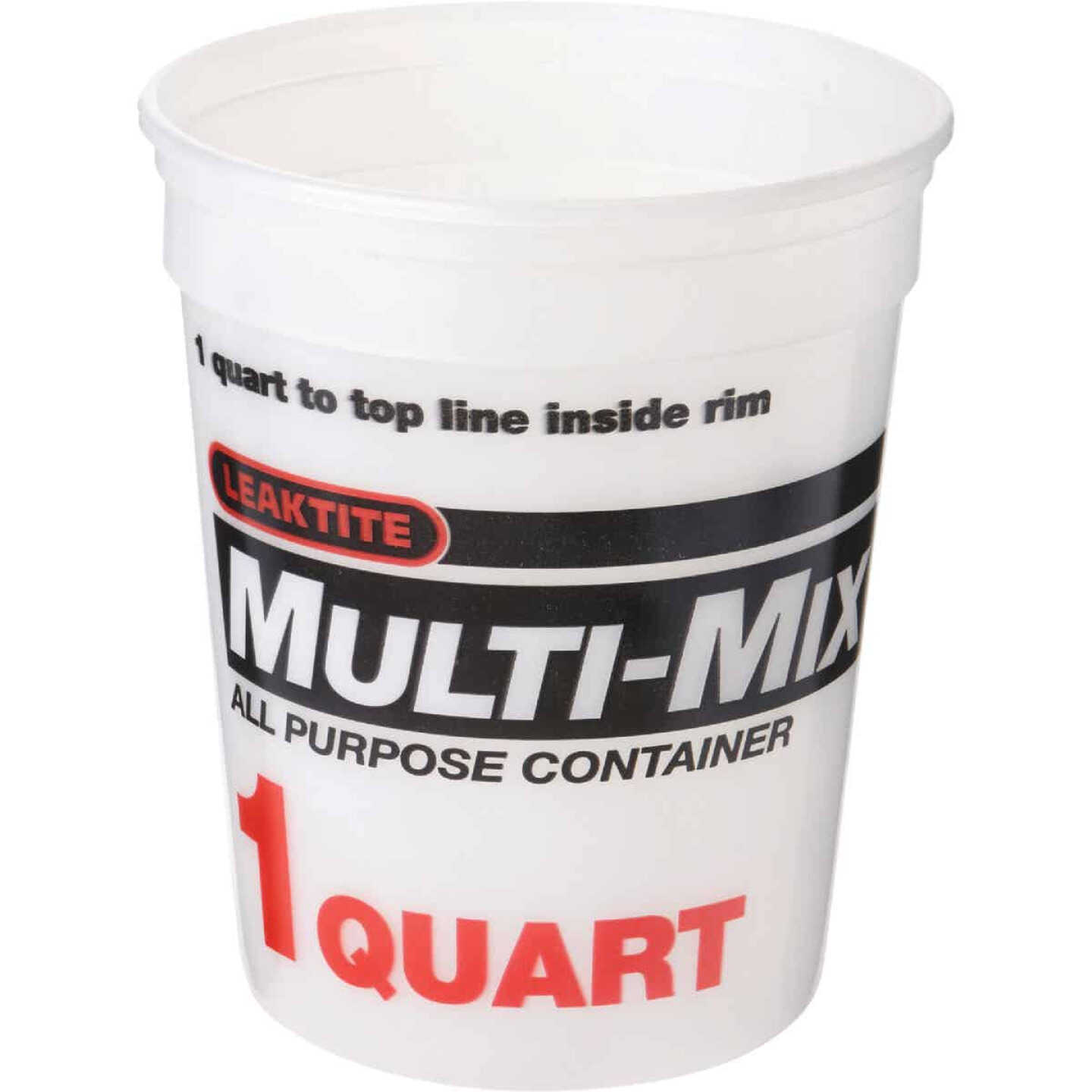 Leaktite 1 Qt. White Multi-Mix All Purpose Mixing And Storage Container Image 1