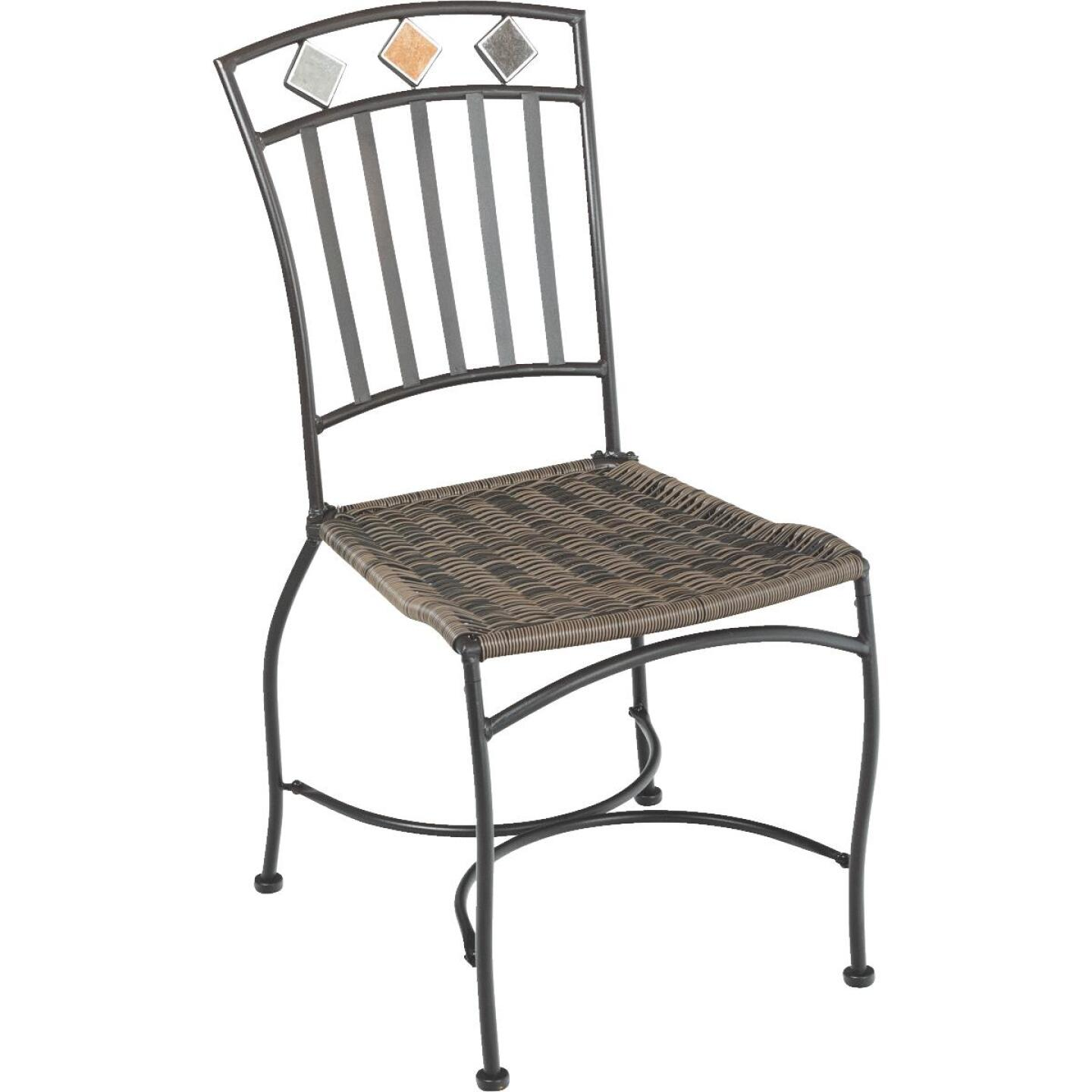Outdoor Expressions Santorini 3-Piece Bistro Set with Wicker Seats Image 11