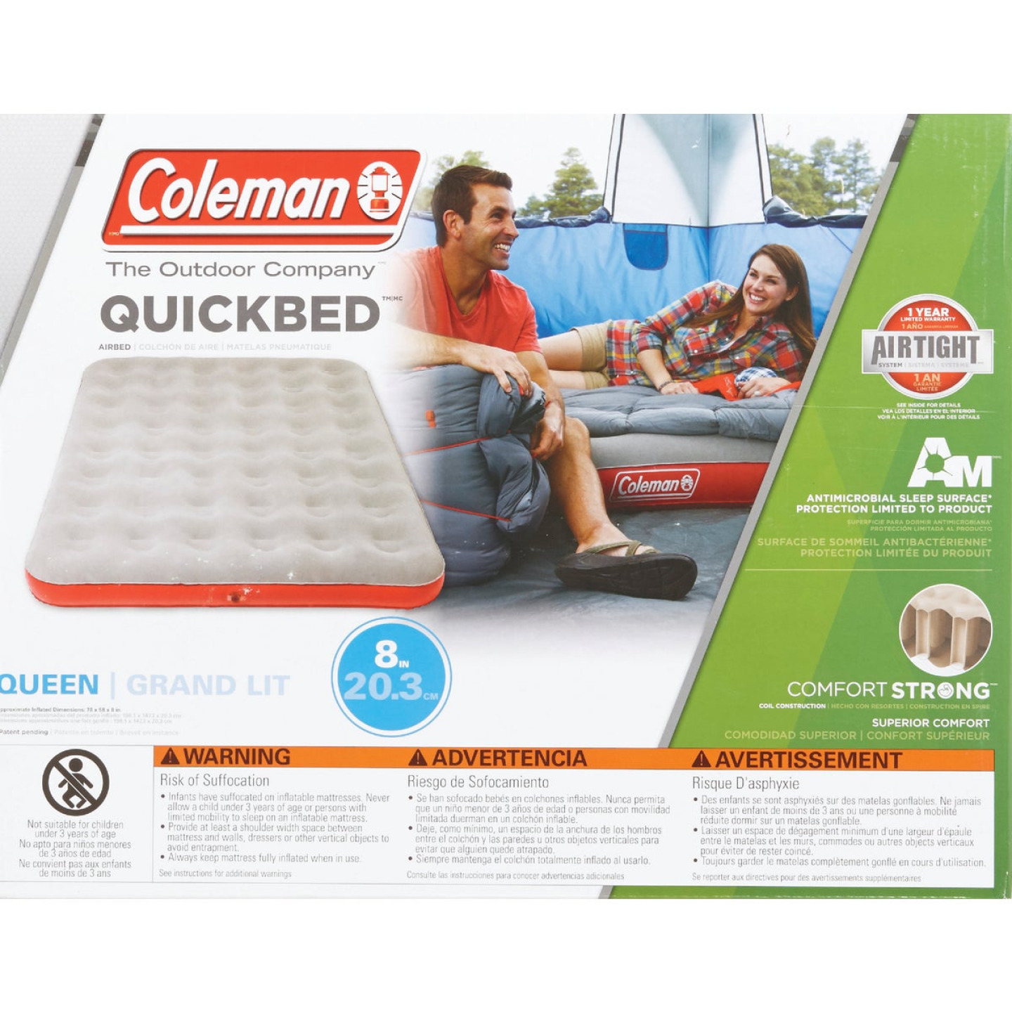 Coleman Single High Quick Air Mattress, Queen Image 2