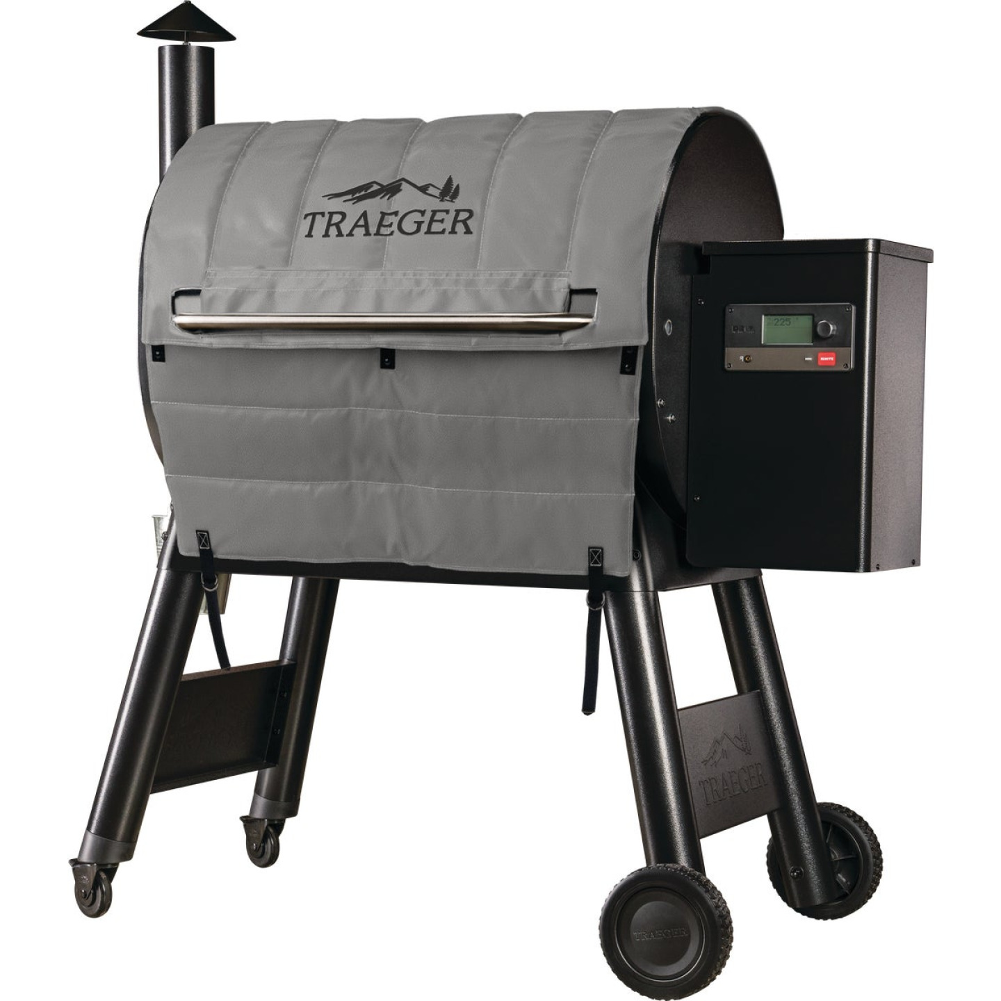 Traeger Pro 780 48.6 In. Gray Foil-Backed Heat-Resistant Fabric Insulated Blanket Grill Cover Image 1