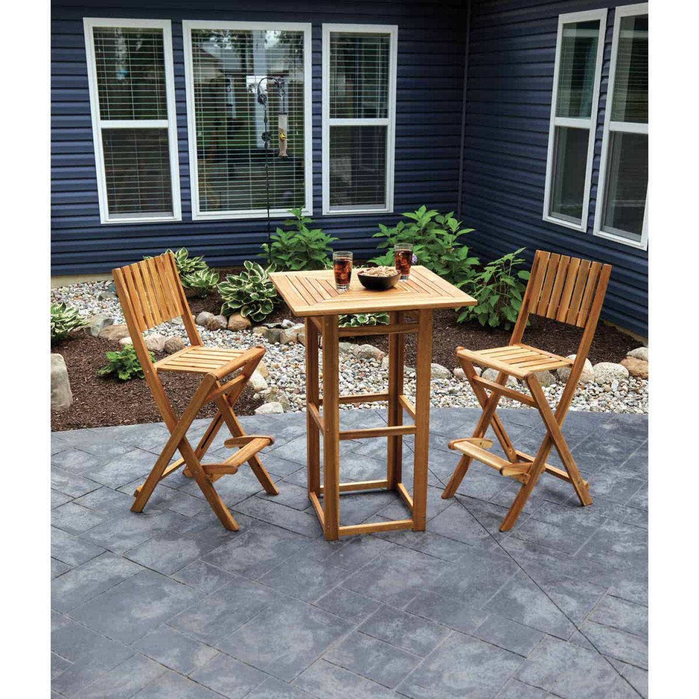 Outdoor Expressions 3-Piece Bar Height Bistro Set Image 3