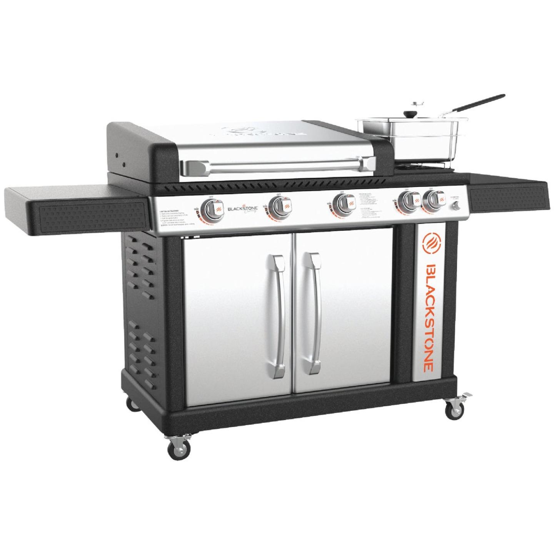 Blackstone Culinary Pro 5-Burner Black/Stainless Steel 16,000 BTU LP Gas Griddle Image 1